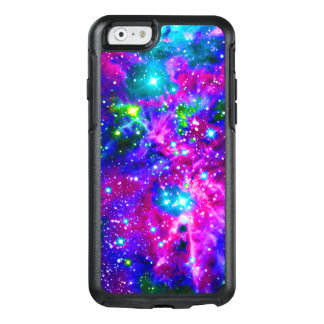 Cool Colorful Space Stars Nebula Modern Black OtterBox iPhone 6/6s Case