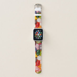 Cool colorful sweet Easter Jelly Beans Candy Apple Watch Band