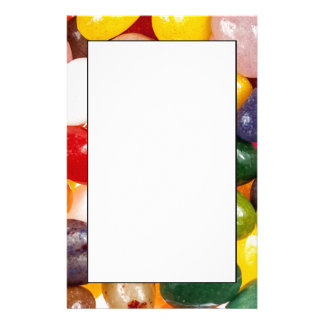 Cool colorful sweet Easter Jelly Beans Candy Stationery