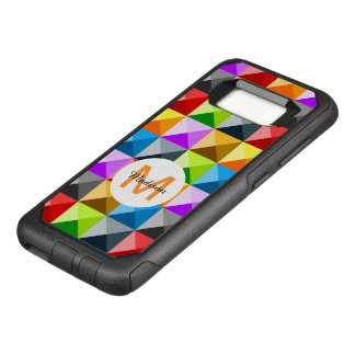 Cool Colorful triangles geometric pattern Monogram OtterBox Commuter Samsung Galaxy S8 Case