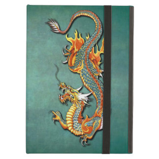 Cool Colorful Vintage Fantasy Fire Dragon Tattoo iPad Air Cover