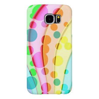 Cool Colorful Wavy Pattern Samsung Galaxy S6 Cases