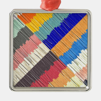 Cool Colors Collage Metal Ornament