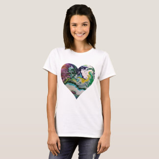 Cool Colors Heart T-Shirt
