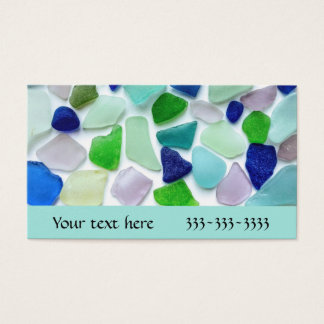 Cool Colors Sea Glass Business Cards