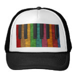 Cool colourful antique grunge effect piano hat