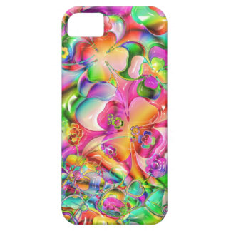 cool colourful bright flowers hearts background iPhone 5 covers