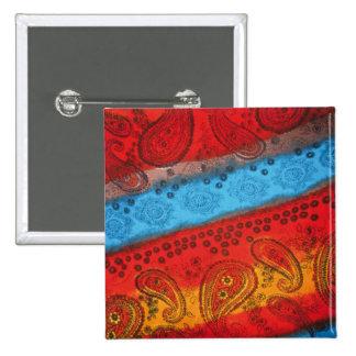 Cool Colourful Fabric square button