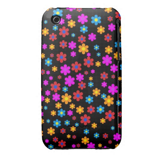 Cool colourful floral flowers pattern background Case-Mate iPhone 3 cases