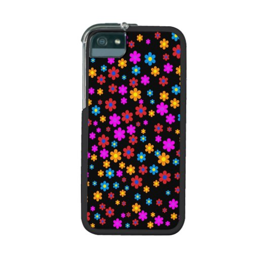 Cool colourful floral flowers pattern background cover for iPhone 5/5S