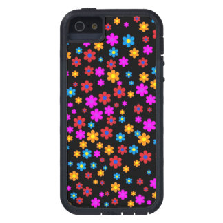 Cool colourful floral flowers pattern background iPhone 5/5S case