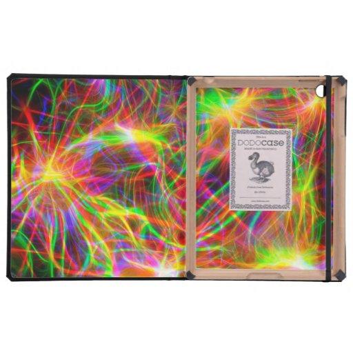 cool colourful fractal iPad folio case