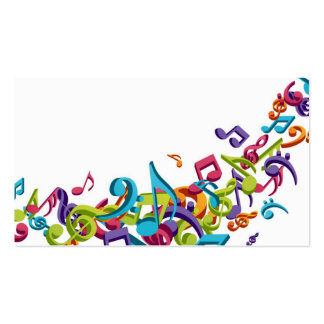 cool colourful music notes and sounds pack of standard business cards