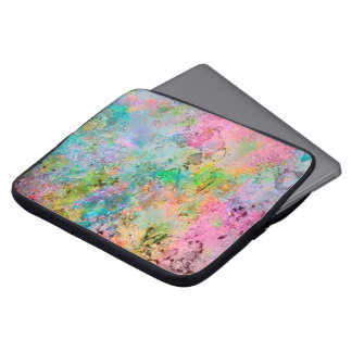 Cool colourful neon colours abstract marble image laptop sleeve