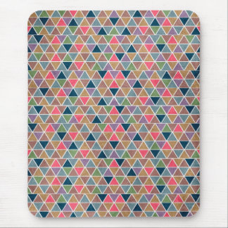 Cool colourful retro geometric triangles pattern mouse pad