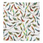Cool colourful tropical watercolor birds pattern bandana