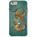 Cool Colourful Vintage Fantasy Fire Dragon Tattoo Tough iPhone 6 Plus Case