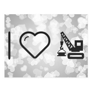 Cool Construction Cranes Postcard