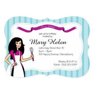 Cool Cooking Party Personalized Invitation