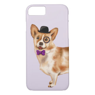 Cool Corgi (Background Color Editable) iPhone 8/7 Case