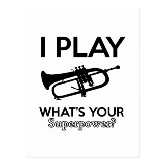 cool cornet design postcard