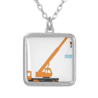 Cool Crane Boy Gift Idea Square Pendant Necklace