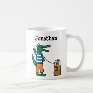 Cool Crocodile Listens to Music Coffee Mug