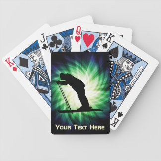 Cool Cross Country Snow Ski Bicycle Playing Cards