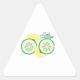 Cool Cucumber Triangle Stickers
