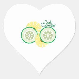 Cool Cucumber Heart Sticker