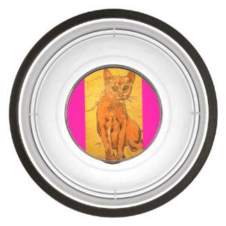 cool curious cat pet bowl