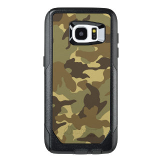 Cool Custom Military Brown Camo Camouflage Pattern OtterBox Samsung Galaxy S7 Edge Case