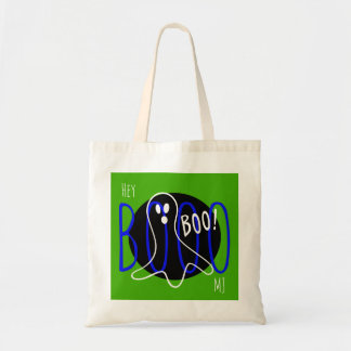 Cool Custom Monogram Name Halloween Ghost Boo Bag