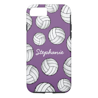 Cool Custom Name Volleyball Purple iPhone 8/7 Case