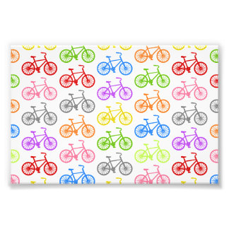 Cool cute bicycle pattern colourful seamless photographic print