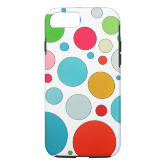 Cool cute different size bubbles and polka dots iPhone 8/7 case