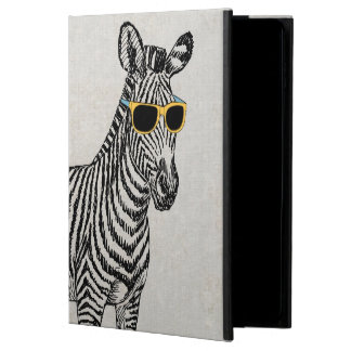Cool cute funny zebra sketch with trendy glasses powis iPad air 2 case