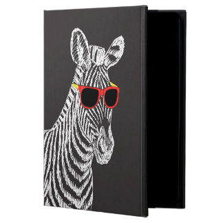 Cool cute funny zebra white sketch with glasses