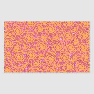 Cool cute girly swirls pink and orange SWIRLS08 Rectangular Sticker