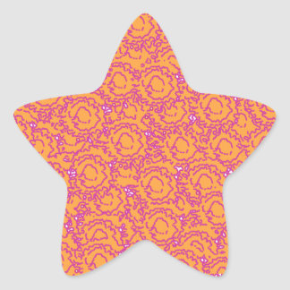 Cool cute girly swirls pink and orange SWIRLS08 Star Sticker