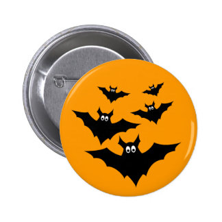 Cool cute Halloween bats button