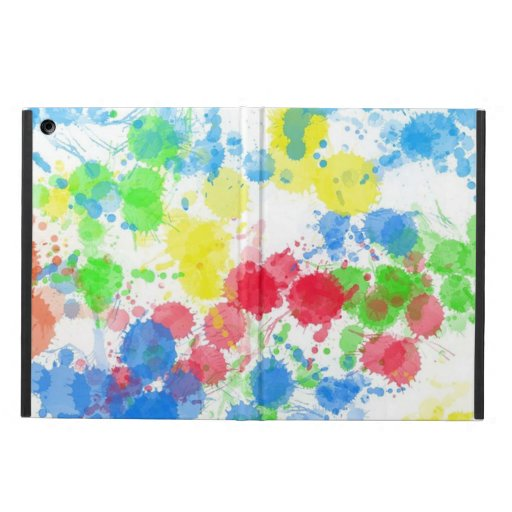 Cool cute  trendy colourful splatters watercolours cover for iPad air