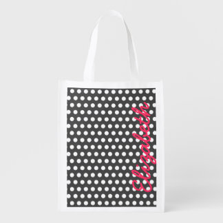 Cool cute trendy girly white polka dots pattern