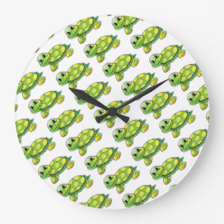 Cool Cute Turtle Large Clock