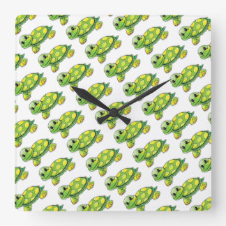 Cool Cute Turtle Square Wall Clock