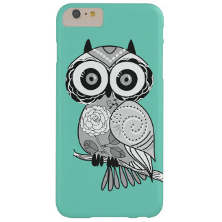 Cool Cute Unique Hipster Groovy Owl Teal Barely There iPhone 6 Plus Case