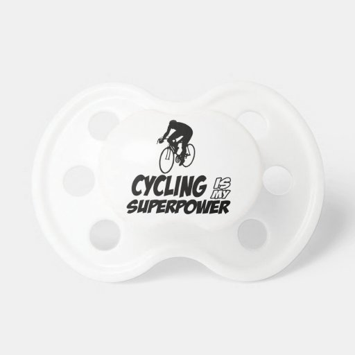 Cool Cycling designs Baby Pacifiers
