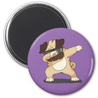Cool Dabbing Pug with Sunglasses Magnet