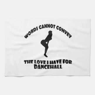 Cool dancehall designs tea towel