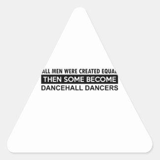 Cool dancehall designs triangle sticker